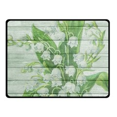 On Wood May Lily Of The Valley Fleece Blanket (small) by Simbadda