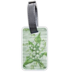 On Wood May Lily Of The Valley Luggage Tags (one Side)  by Simbadda