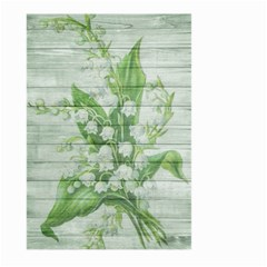On Wood May Lily Of The Valley Large Garden Flag (two Sides) by Simbadda