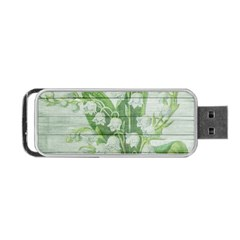 On Wood May Lily Of The Valley Portable Usb Flash (two Sides) by Simbadda