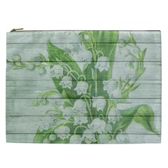 On Wood May Lily Of The Valley Cosmetic Bag (xxl)  by Simbadda