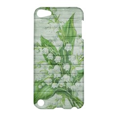 On Wood May Lily Of The Valley Apple Ipod Touch 5 Hardshell Case by Simbadda