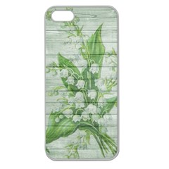 On Wood May Lily Of The Valley Apple Seamless Iphone 5 Case (clear) by Simbadda