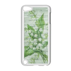 On Wood May Lily Of The Valley Apple Ipod Touch 5 Case (white) by Simbadda