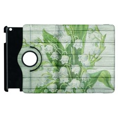 On Wood May Lily Of The Valley Apple Ipad 2 Flip 360 Case by Simbadda
