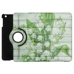 On Wood May Lily Of The Valley Apple Ipad Mini Flip 360 Case by Simbadda