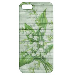 On Wood May Lily Of The Valley Apple Iphone 5 Hardshell Case With Stand by Simbadda