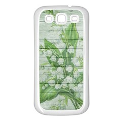 On Wood May Lily Of The Valley Samsung Galaxy S3 Back Case (White)