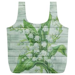 On Wood May Lily Of The Valley Full Print Recycle Bags (l)  by Simbadda