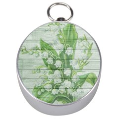 On Wood May Lily Of The Valley Silver Compasses by Simbadda