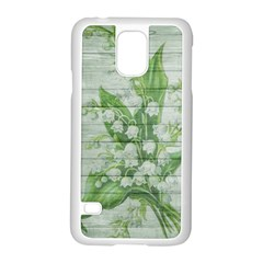 On Wood May Lily Of The Valley Samsung Galaxy S5 Case (white) by Simbadda