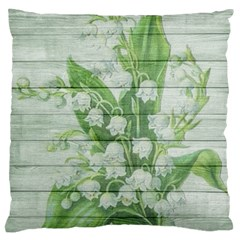 On Wood May Lily Of The Valley Standard Flano Cushion Case (two Sides) by Simbadda