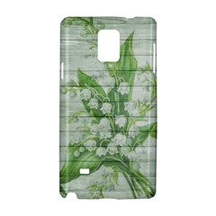 On Wood May Lily Of The Valley Samsung Galaxy Note 4 Hardshell Case by Simbadda