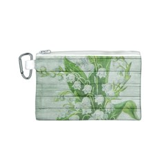 On Wood May Lily Of The Valley Canvas Cosmetic Bag (s) by Simbadda