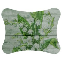 On Wood May Lily Of The Valley Jigsaw Puzzle Photo Stand (bow) by Simbadda