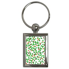 Leaves True Leaves Autumn Green Key Chains (rectangle)  by Simbadda