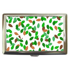 Leaves True Leaves Autumn Green Cigarette Money Cases by Simbadda