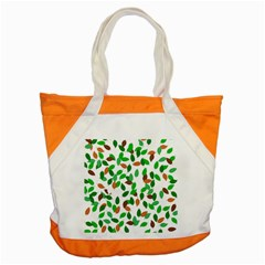 Leaves True Leaves Autumn Green Accent Tote Bag by Simbadda