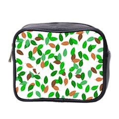 Leaves True Leaves Autumn Green Mini Toiletries Bag 2 Side by Simbadda