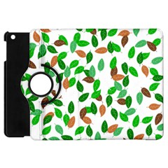 Leaves True Leaves Autumn Green Apple Ipad Mini Flip 360 Case by Simbadda