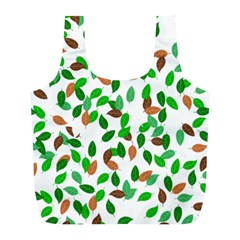 Leaves True Leaves Autumn Green Full Print Recycle Bags (l)  by Simbadda