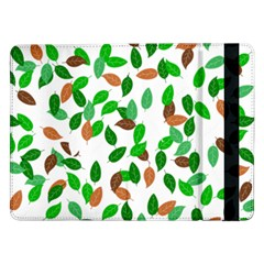 Leaves True Leaves Autumn Green Samsung Galaxy Tab Pro 12 2  Flip Case by Simbadda