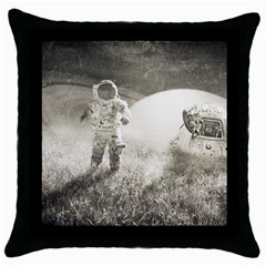 Astronaut Space Travel Space Throw Pillow Case (black) by Simbadda