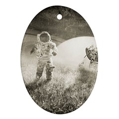Astronaut Space Travel Space Oval Ornament (Two Sides)