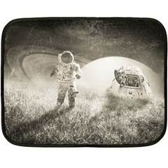Astronaut Space Travel Space Double Sided Fleece Blanket (mini)  by Simbadda