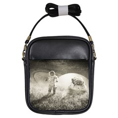 Astronaut Space Travel Space Girls Sling Bags by Simbadda