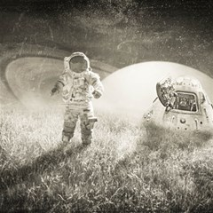 Astronaut Space Travel Space Magic Photo Cubes by Simbadda