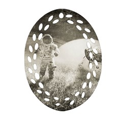 Astronaut Space Travel Space Ornament (oval Filigree) by Simbadda