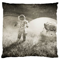 Astronaut Space Travel Space Large Cushion Case (two Sides) by Simbadda