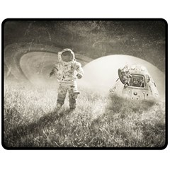 Astronaut Space Travel Space Double Sided Fleece Blanket (medium)  by Simbadda