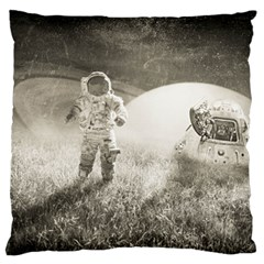 Astronaut Space Travel Space Large Flano Cushion Case (one Side) by Simbadda