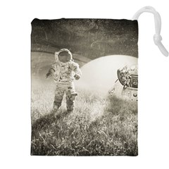 Astronaut Space Travel Space Drawstring Pouches (xxl) by Simbadda