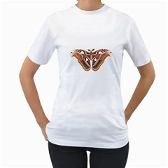 Butterfly Animal Insect Isolated Women s T Shirt (white) (two Sided) by Simbadda