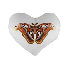 Butterfly Animal Insect Isolated Standard 16  Premium Flano Heart Shape Cushions by Simbadda