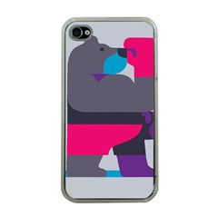 Strong Bear Animals Boxing Red Purple Grey Apple Iphone 4 Case (clear) by Alisyart