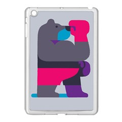 Strong Bear Animals Boxing Red Purple Grey Apple Ipad Mini Case (white) by Alisyart