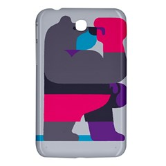 Strong Bear Animals Boxing Red Purple Grey Samsung Galaxy Tab 3 (7 ) P3200 Hardshell Case  by Alisyart