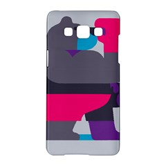 Strong Bear Animals Boxing Red Purple Grey Samsung Galaxy A5 Hardshell Case  by Alisyart