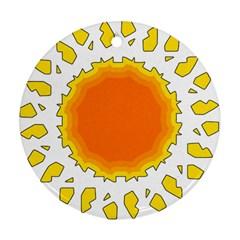 Sun Hot Orange Yrllow Light Ornament (round) by Alisyart
