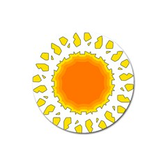 Sun Hot Orange Yrllow Light Magnet 3  (round) by Alisyart