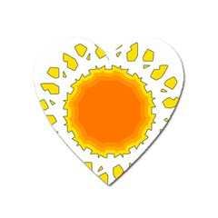 Sun Hot Orange Yrllow Light Heart Magnet by Alisyart