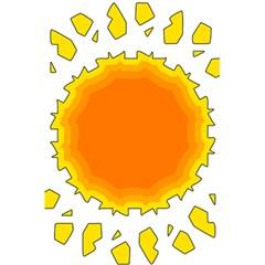 Sun Hot Orange Yrllow Light 5 5  X 8 5  Notebooks by Alisyart