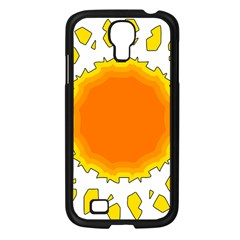 Sun Hot Orange Yrllow Light Samsung Galaxy S4 I9500/ I9505 Case (black) by Alisyart