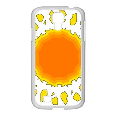 Sun Hot Orange Yrllow Light Samsung Galaxy S4 I9500/ I9505 Case (white) by Alisyart