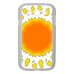 Sun Hot Orange Yrllow Light Samsung Galaxy Grand Duos I9082 Case (white) by Alisyart