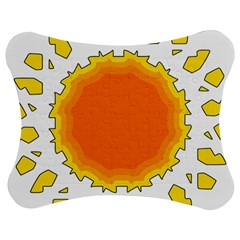 Sun Hot Orange Yrllow Light Jigsaw Puzzle Photo Stand (bow) by Alisyart